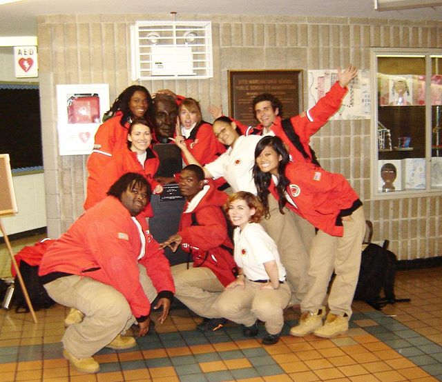"#FBF My City Year team during our #AmeriCorps year of service. Just found out I was selected to receive their Comcast NBCUniversal Leadership Award. Each year they award a handful of alumni from around the country for their continued commitment to #empowering others and creating sustainable solutions for #socialchange. I could not be more honored and must credit the last decade of my work to the lessons learned from this life changing year. 🙏 . One of my favorite #CityYear values: #UBUNTU—a term borrowed from the Zulu tribe of South Africa—means ✨ ""I am a person through other people; my #humanity is tied to yours."" ✨This concept expresses a spiritual #truth about the world: we're all connected to each other through invisible webs of #interdependence. We share a common world and destiny, and the struggles of a few can affect the many. ⠀ . A shout out to all those who work each day in #service of a cause greater than themselves. It feels like now more than ever, we must to find ways to address our shared civic challenges through unified action. 💪#CYNY #forthekids #teamwork (PS 50 / East Harlem ❤️ for life.)"