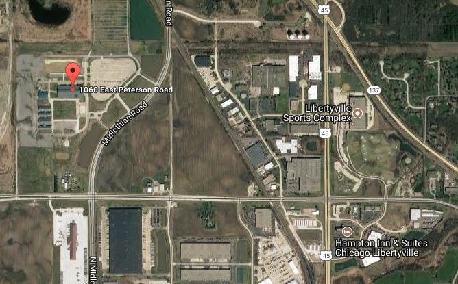 Map of show site. 1060 East Peterson Road - Lake County Fairgrounds, Grayslake, IL