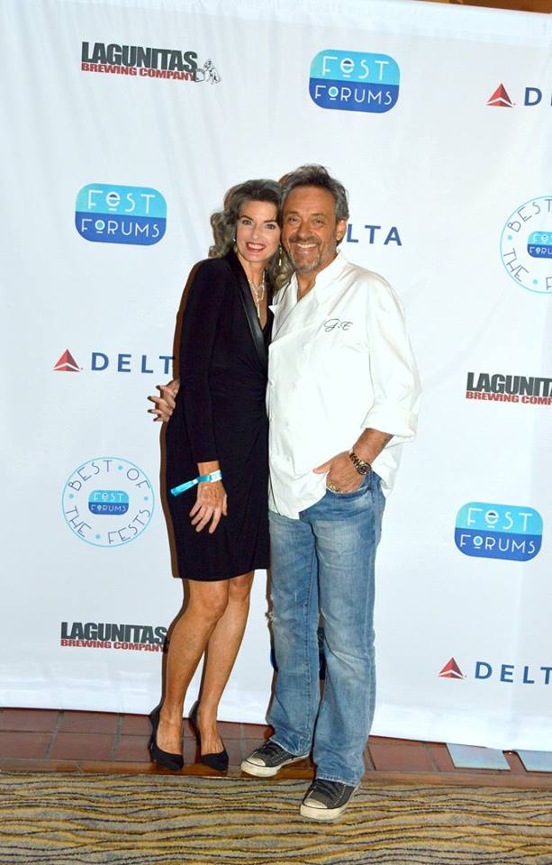 Gilles Epié (right) - Food & Beverage  Presented by Joan Severance (left)