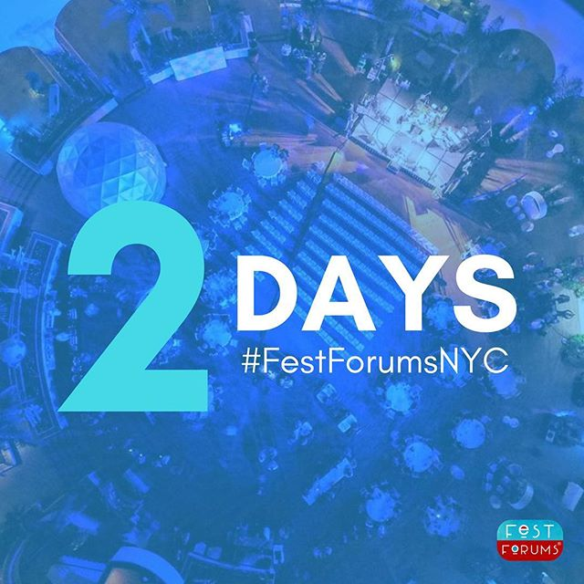 We can't believe it's almost time. #FestForumsNYC returns on Thursday!