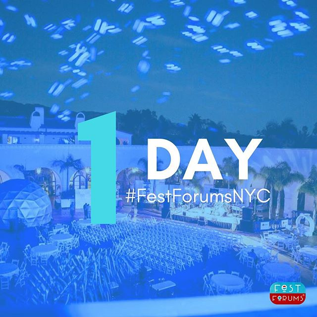 It's so close! We'll see you tomorrow to kick off #FestForumsNYC!