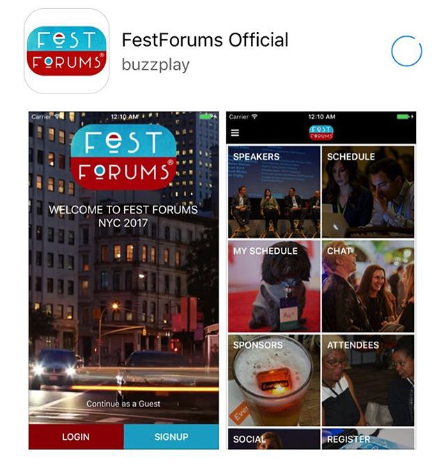 Prepare for tomorrow by downloading our official Fest Forums App to see our schedule and stay engaged throughout the event. Make sure to opt in for our push notifications! https://appsto.re/us/X0TBjb.i