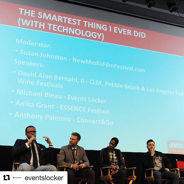 #Repost @eventslocker with @repostapp ・・・ Had a great time speaking on the event technology panel at @festforums NYC yesterday! Day 2 in progress! #festforums @eventslocker @mikebleau . . . . #panel #publicspeaking #startup #festival #festivals #expo #exhibitor #tradeshow