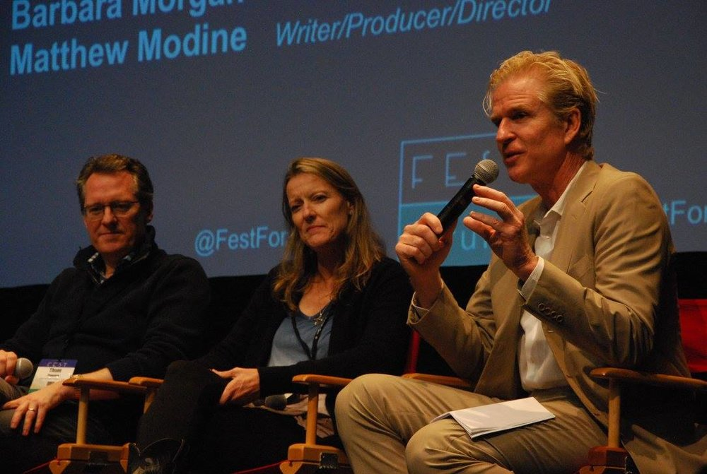 Thom Powers, Barbara Morgan & Matthew Modine
