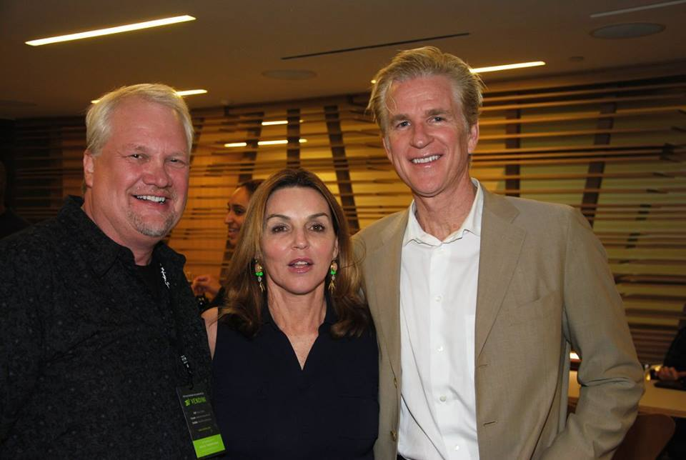 Stuart & Laurie with Matthew Modine