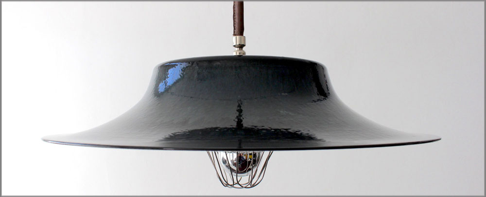 THE SPANISH HAT INCIDENT PENDANT LAMP - PORCELAIN ENAMEL ON STEEL
