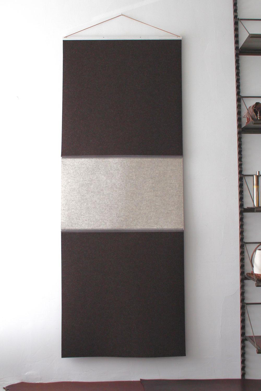 Wool Felt Runner - Oreo (Beige & Trufflebraun) - Click to buy online