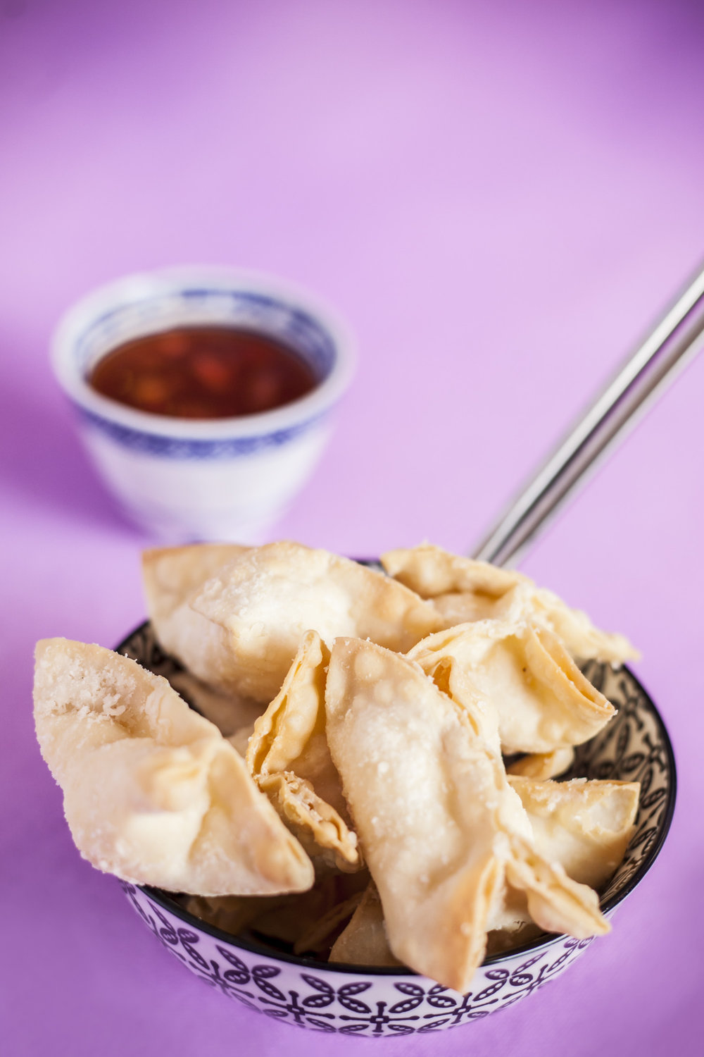 Cream Cheese Wontons. Laura Mohn photography.