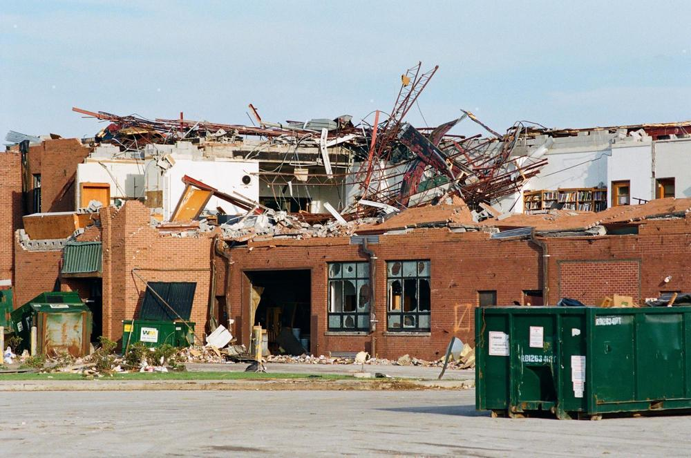 Lake High School, destroyed in the Millbury 2010 tornado