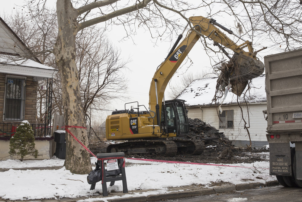 House being demolished on the west side of the city