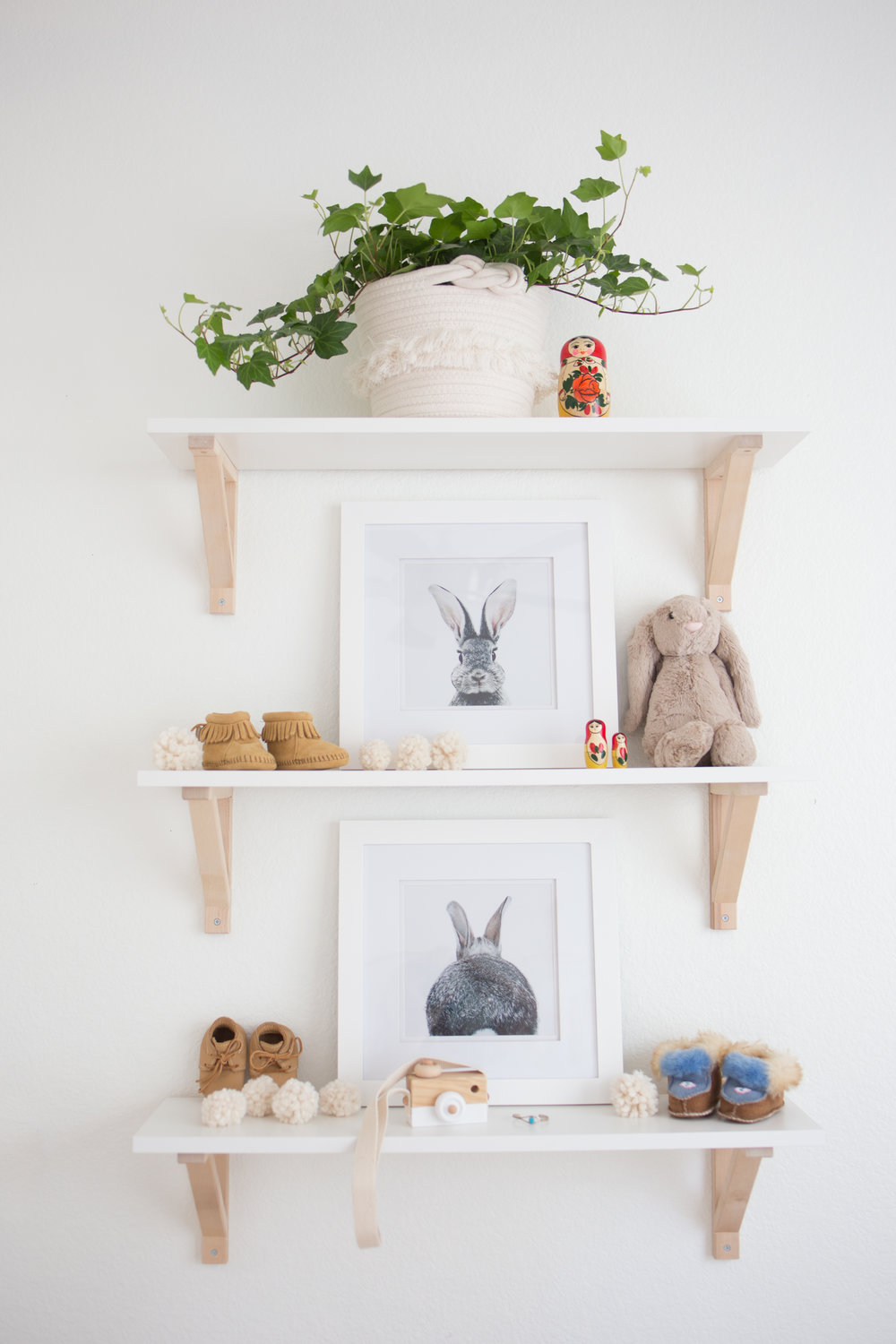 Ikea Ekby Shelf In Nursery with Bunny Boho Decor.jpg