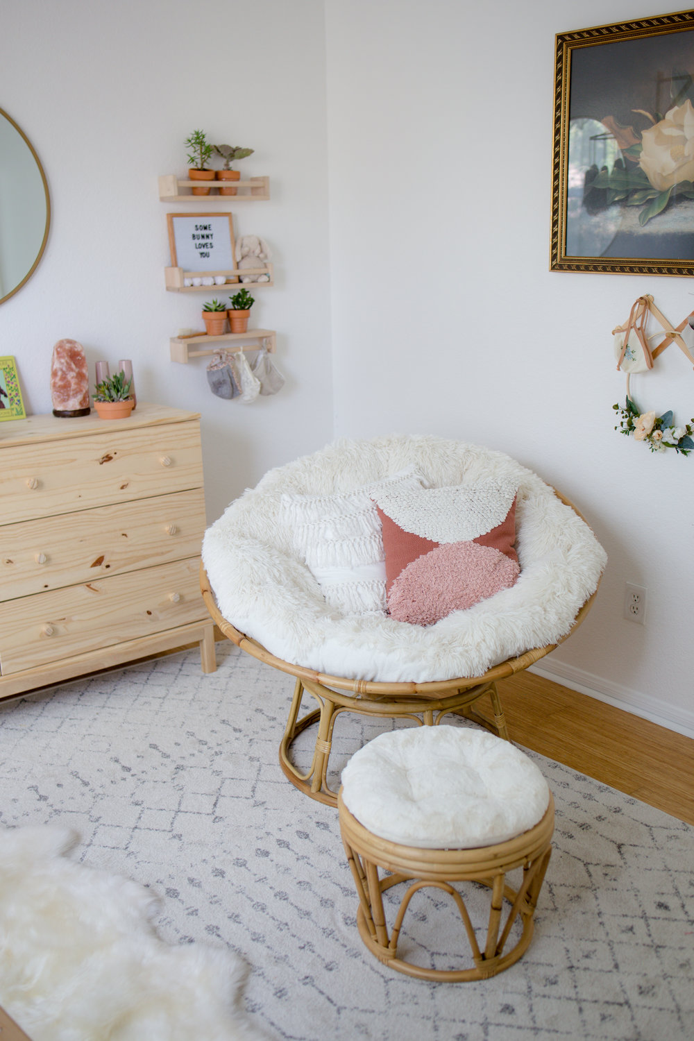 Papasan Chair in Boho Gender Neutral Nursery.jpg