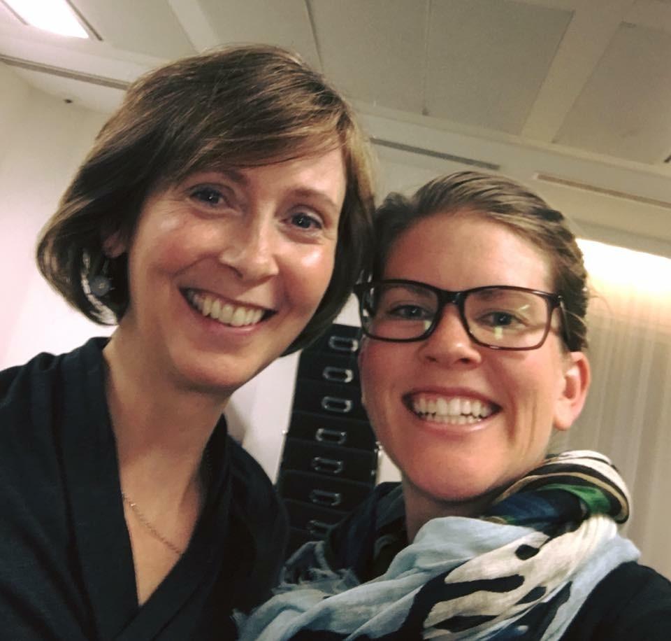 Lisa Webb with her master instructor Nora St. John