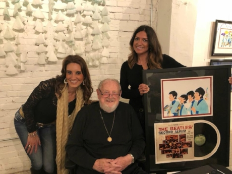 John's wife, Esmerelda Sawyer; Ron Campbell, famous animator and television producer best known for his animated series work of The Beatles, The Jetsons, Scooby-Doo; and Hillary Helona, RPM teammate pose with  The Beatles ;)