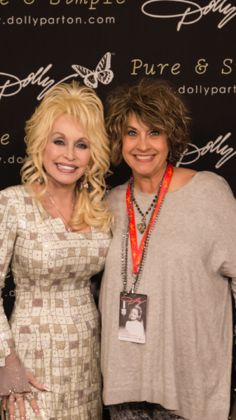 Dolly Parton and past teammate, Becky Vardeman-Murphy
