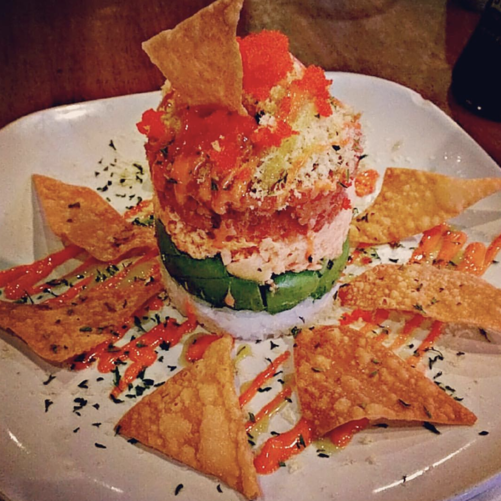 Spicy tuna tower from O'Hana Japanese Steakhouse