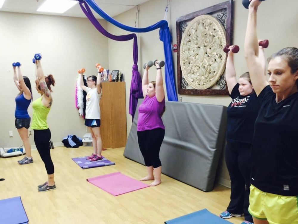 Fitness class at Art Fit