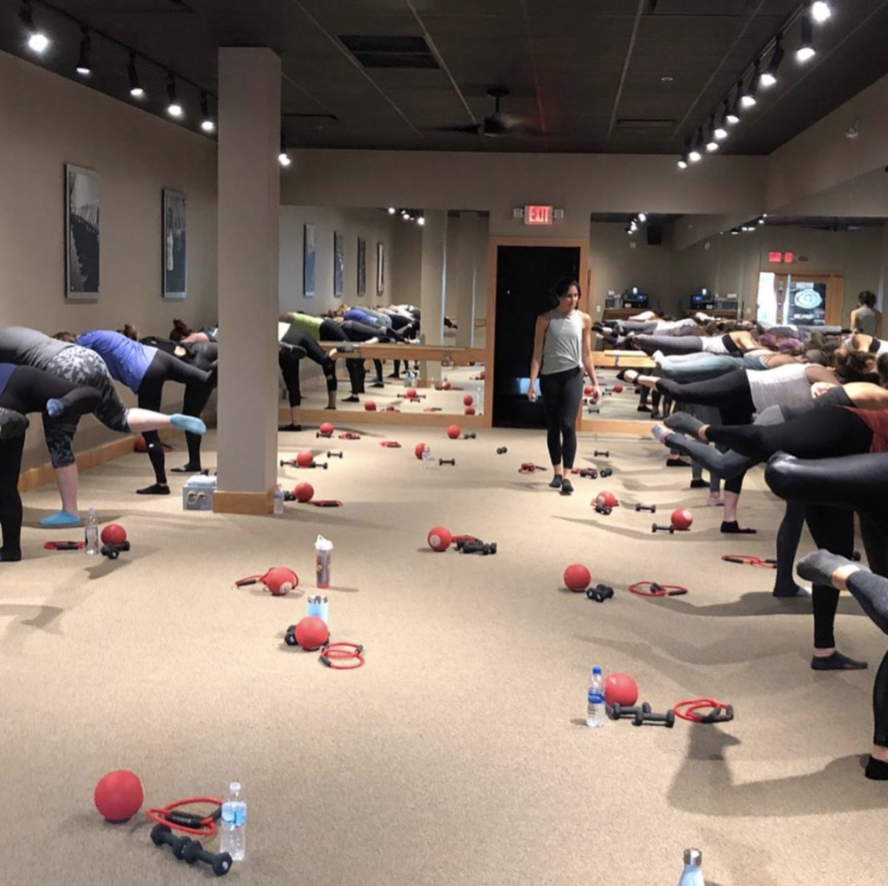 Fitness class at Pure Barre Evansville