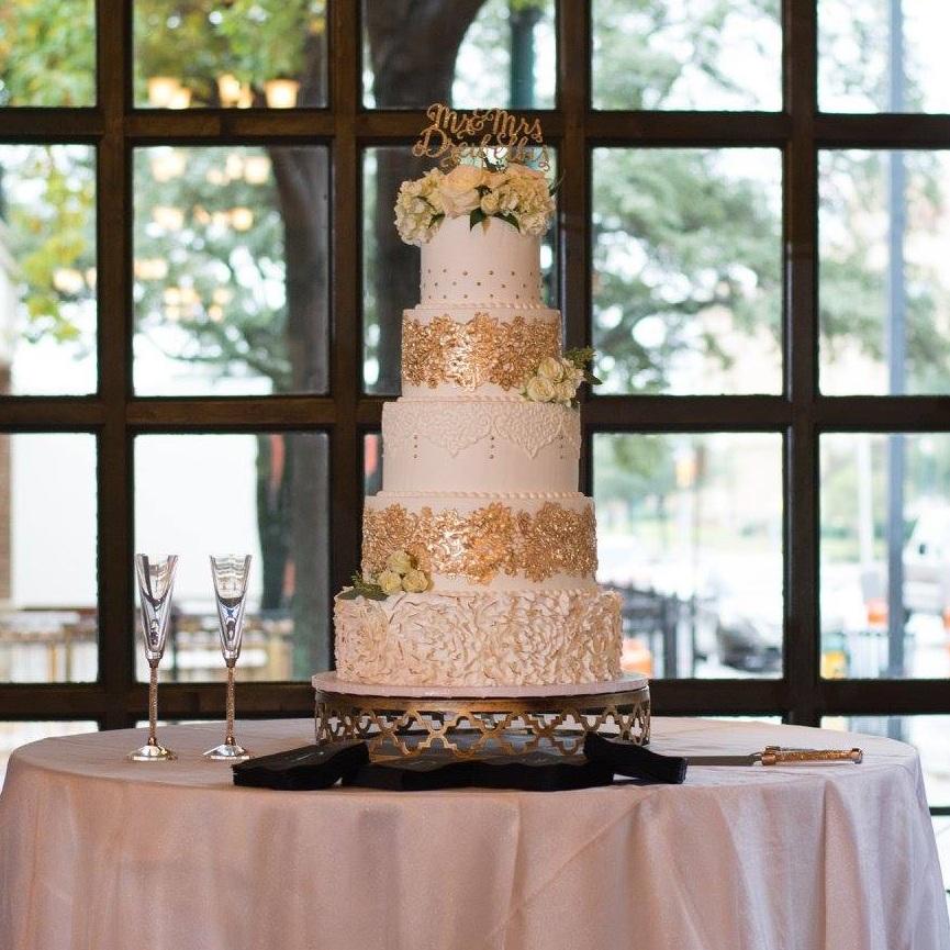 All Sugar'd Up five tier wedding cake