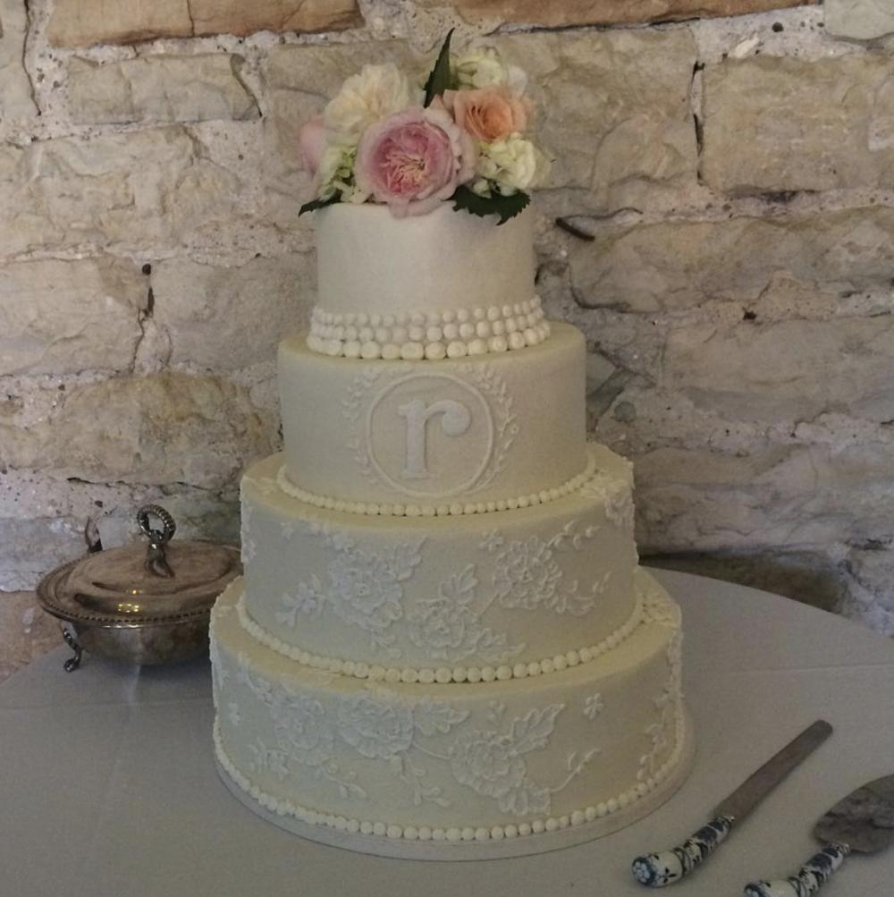 Piece of Cake wedding cake