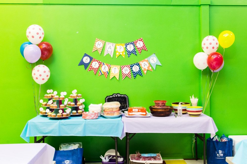 Jump-N-Place birthday party setup