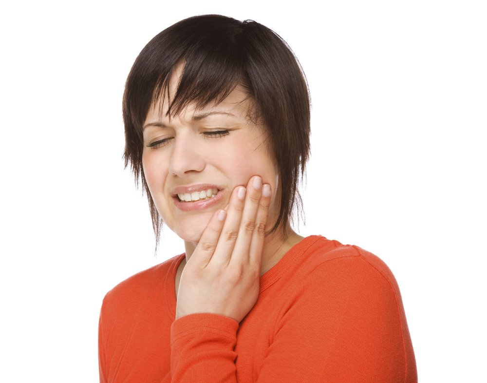 Woman jaw pain