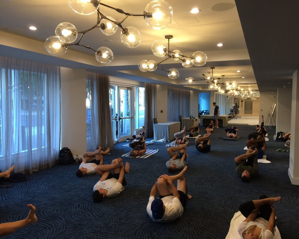 Myofascial Stretching at the Soma Golf conference in Fort Lauderdale, Florida.