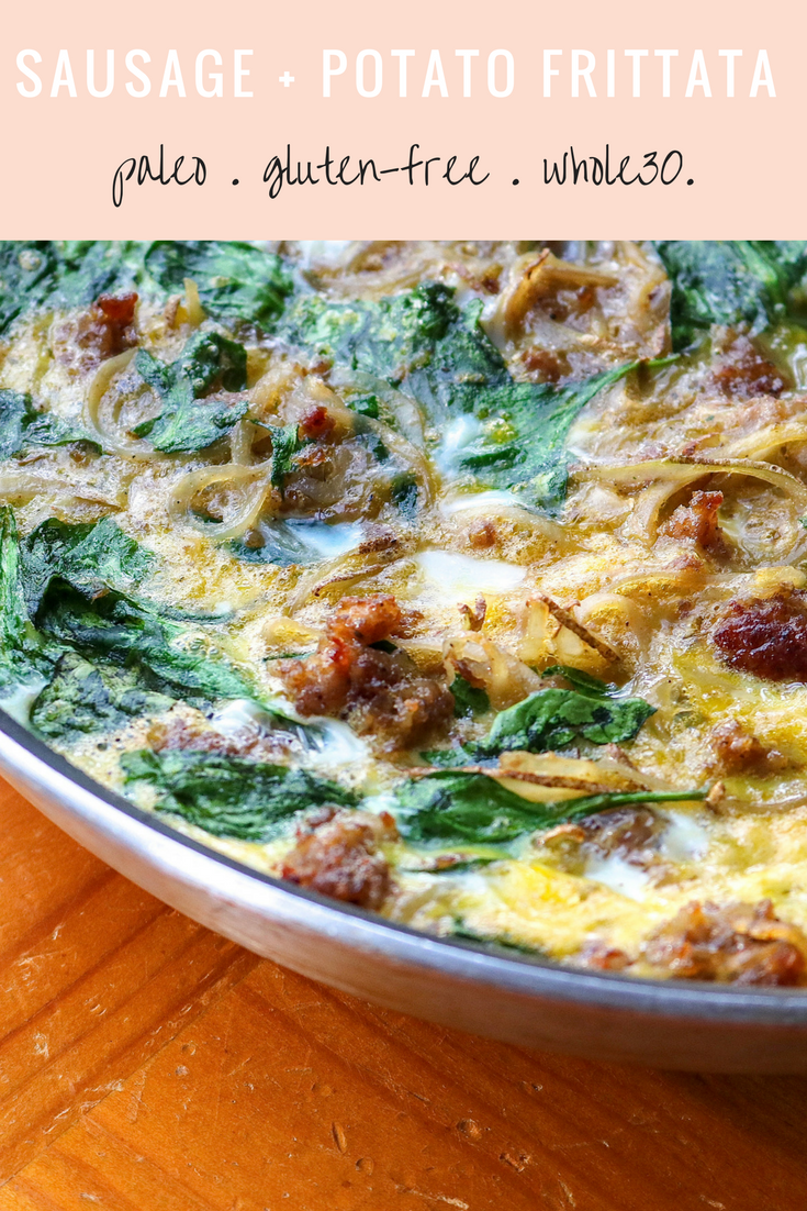 Sausage and Potato Frittata | All the Healthy Things.png