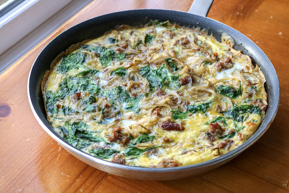 Sausage Potato Frittata | All the Healthy Things.jpg