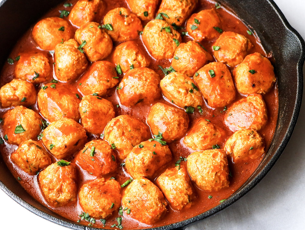 Buffalo Chicken Meatballs | All the Healthy Things