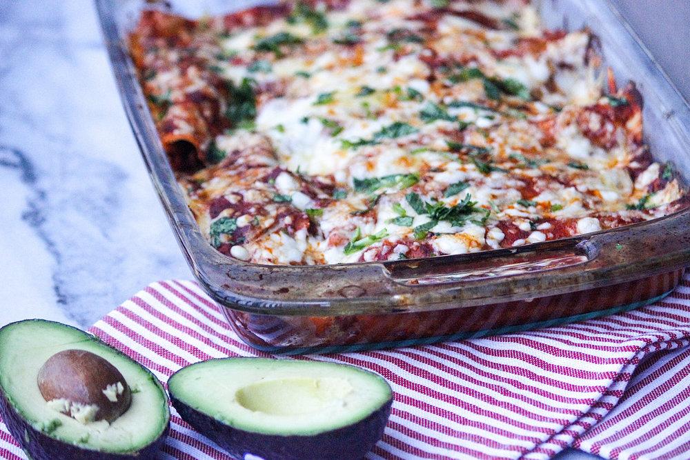 Gluten-Free Chicken Enchiladas