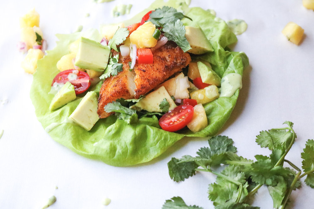 These easy fish tacos are perfect for Taco Tuesday or a quick meal any night of the week!