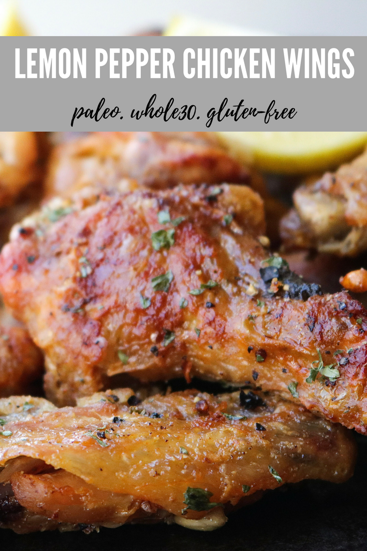 Lemon Pepper Chicken Wings | All the Healthy Things