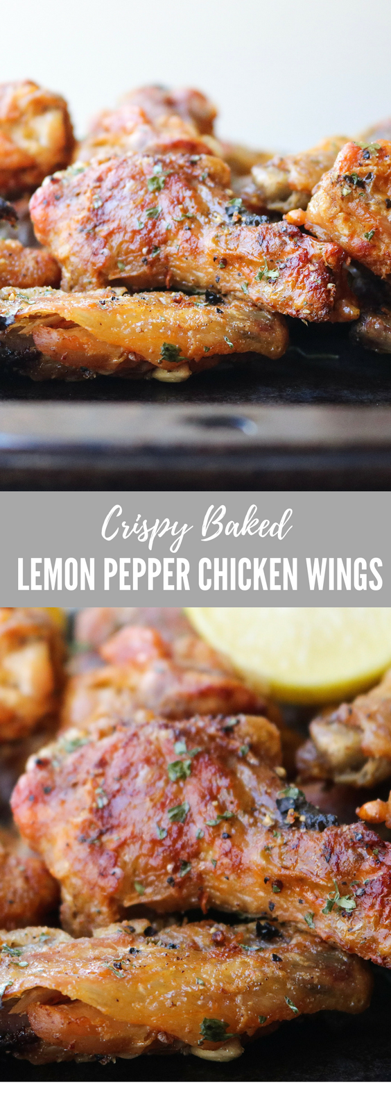 Crispy Baked Lemon Pepper Chicken Wings | All the Healthy Things.png