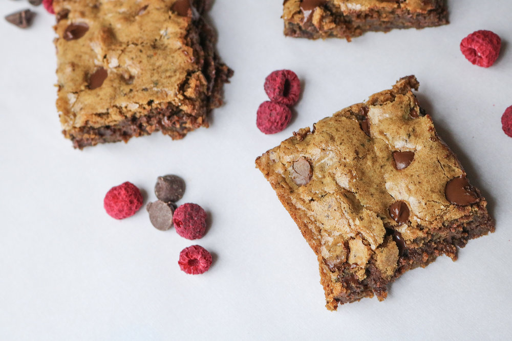 Gluten Free Chocolate Chip Espresso Blondies