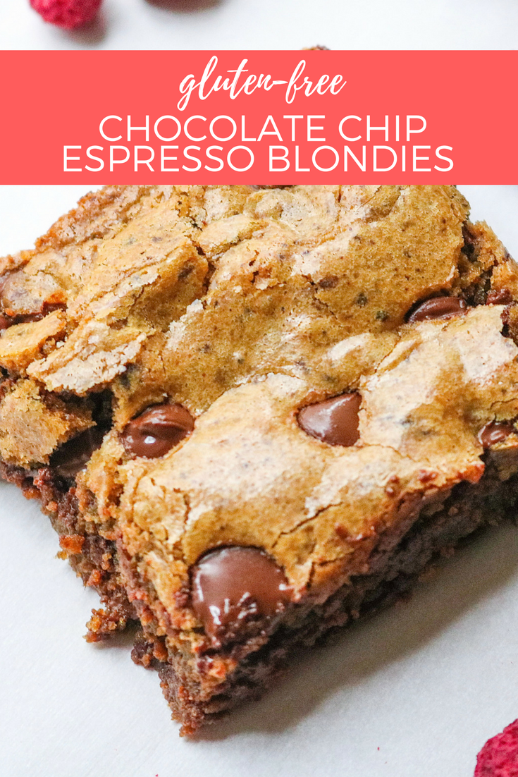 Gluten Free Chocolate Chip Espresso Blondies