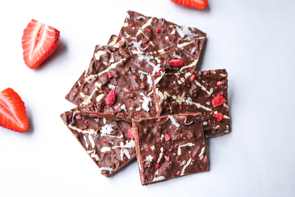 Chocolate Covered Strawberry Bark
