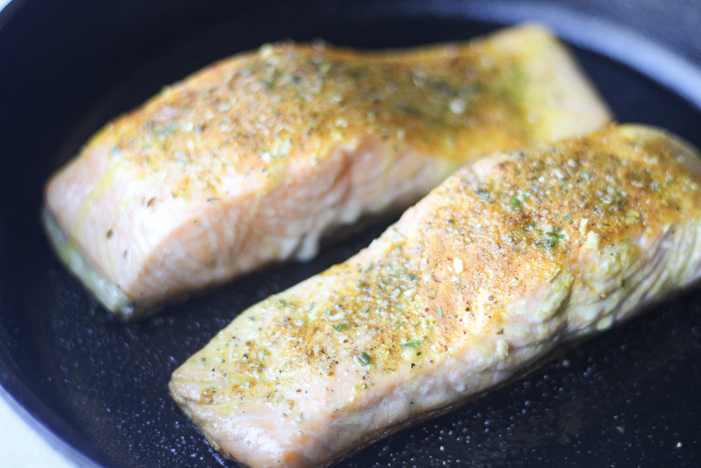 Salmon is a quick and easy protein for a fast weeknight meal. This easy method will give you perfectly flaky and delicious salmon every time!