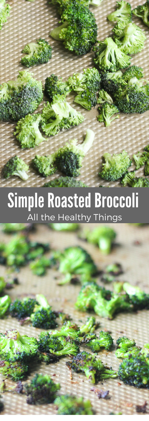 This simple roasted broccoli is an easy side dish that can be paired with just about any meal. If you need a tasty new way to incorporate more veggies in your diet, try this!