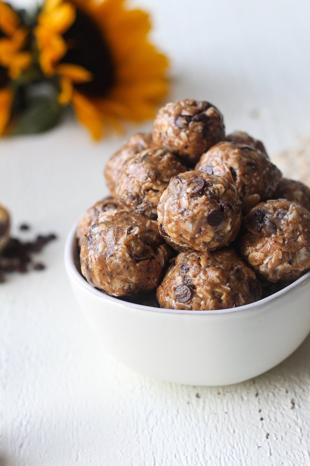 Coconut Chocolate Chip Cookie Dough Bites