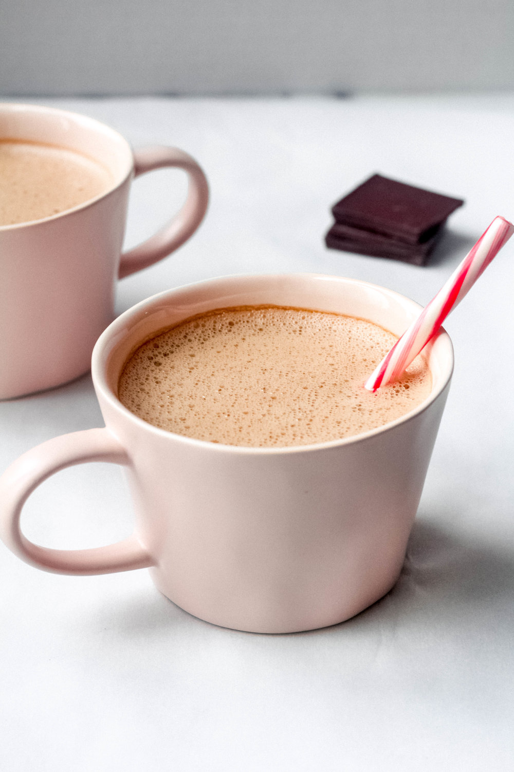 Dairy-Free Peppermint Hot Chocolate with Collagen