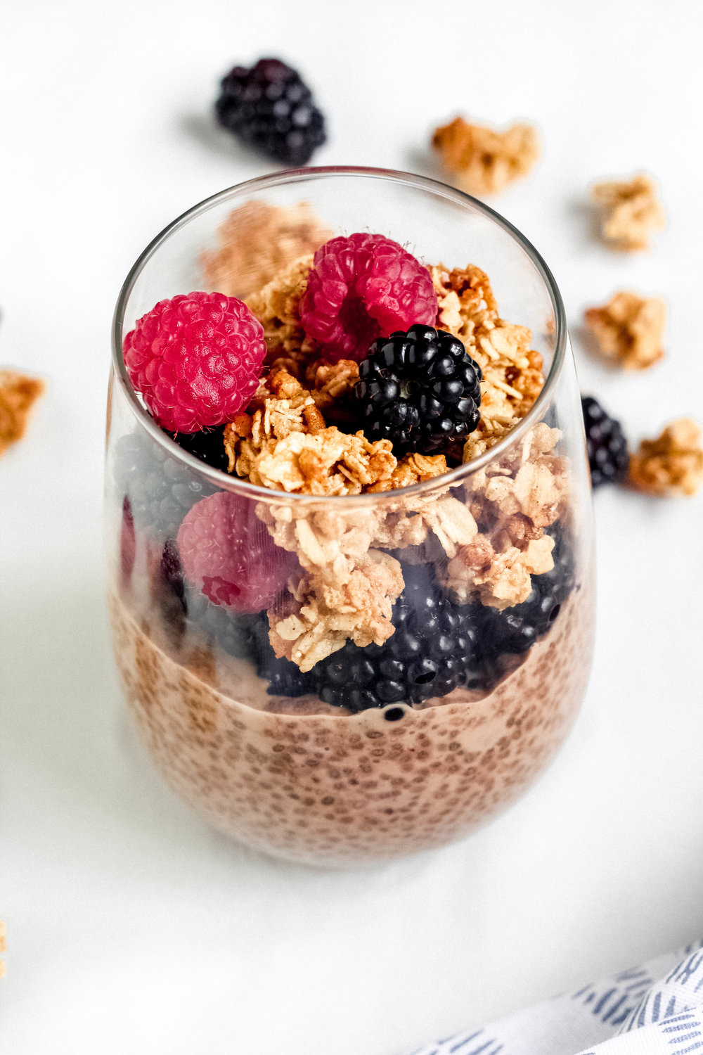 Chocolate Almond Butter Chia Seed Pudding