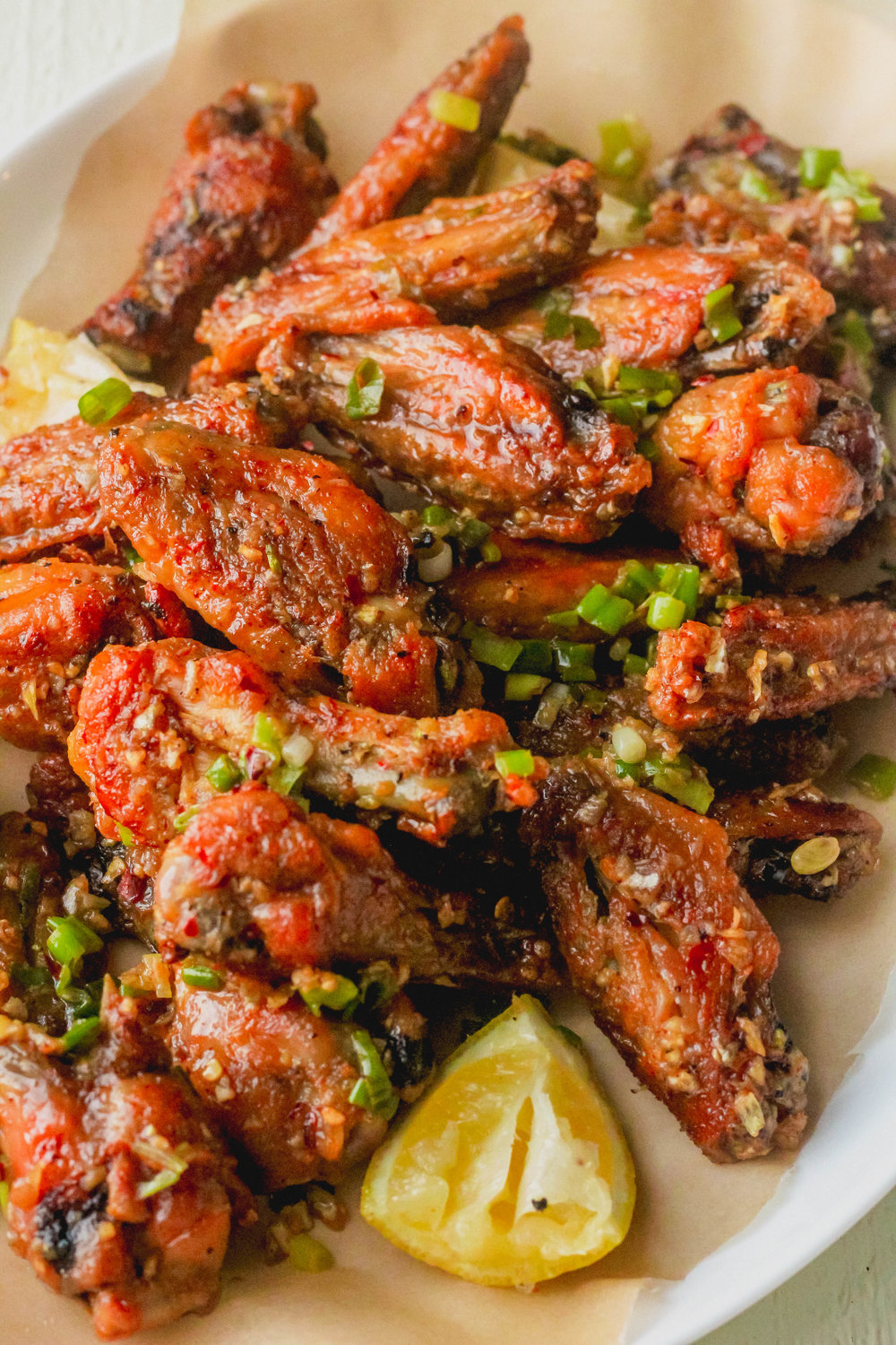 Crispy Lemon Garlic Chicken Wings