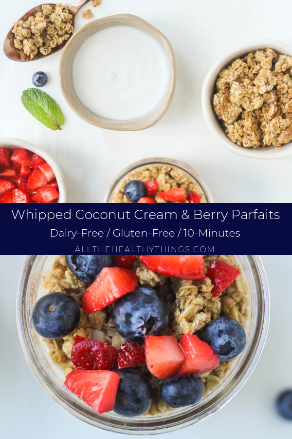 Simple Berry Parfaits with Whipped Coconut Cream