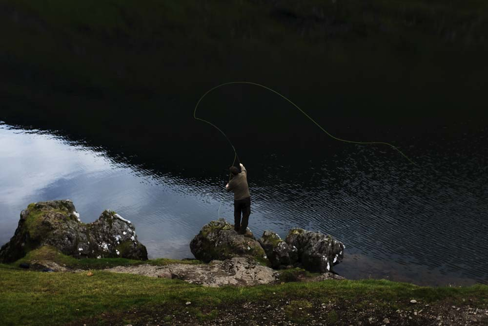 Salmond fishing in Saksun
