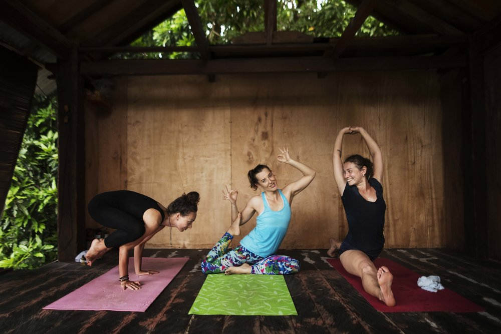 Lovely yoga ladies