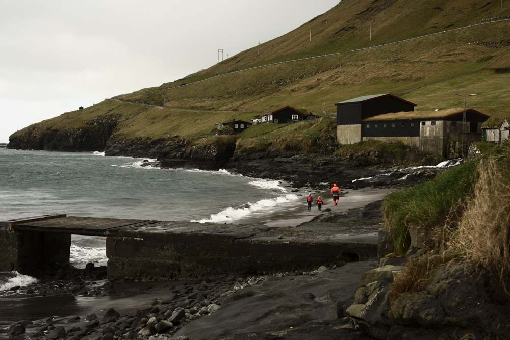 The beach at Bøur, on the Faroe Islands.