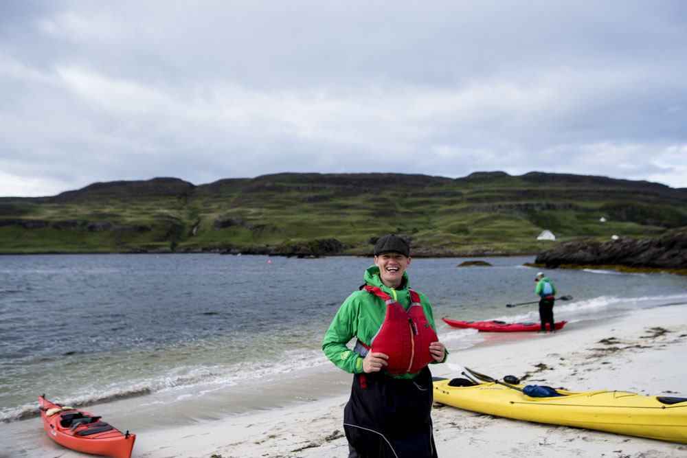 Kayaking in Scotland at Isle of Canna