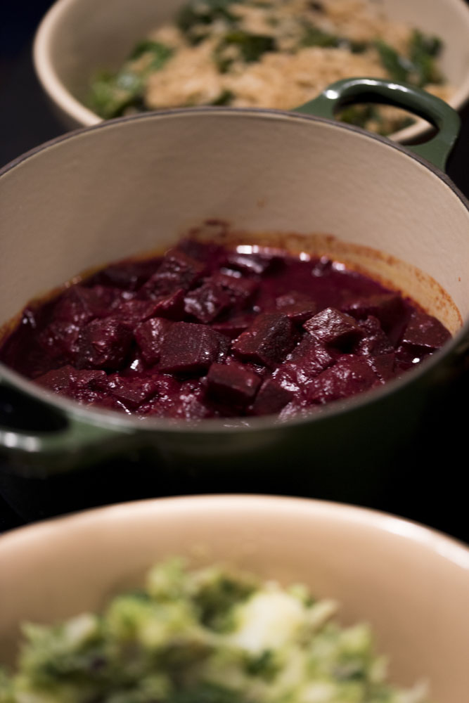 Tasty home-made beetroot curry from Edergole Kitchen - thanks Jo!