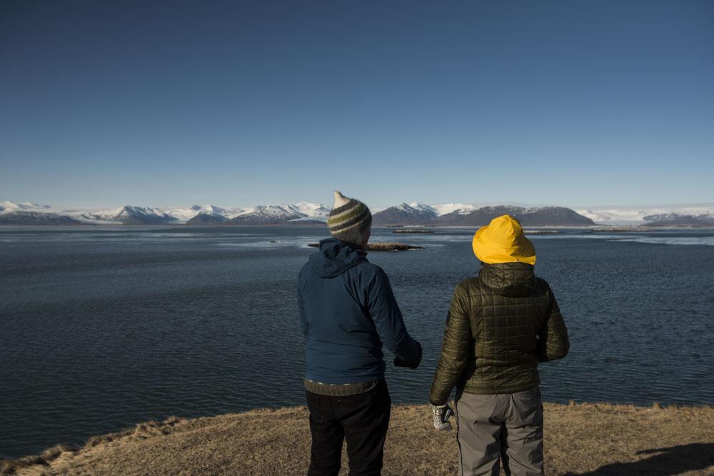 Taking in Höfn's panoramic view